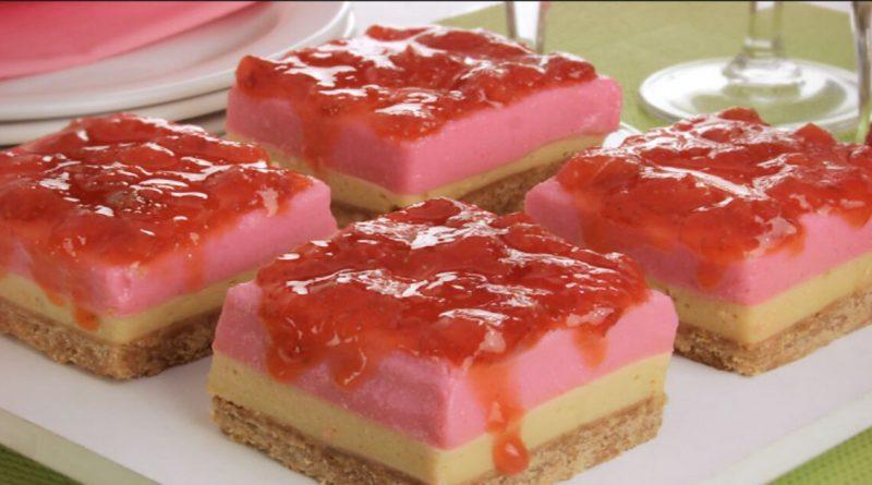 Torta de morango com caramelo