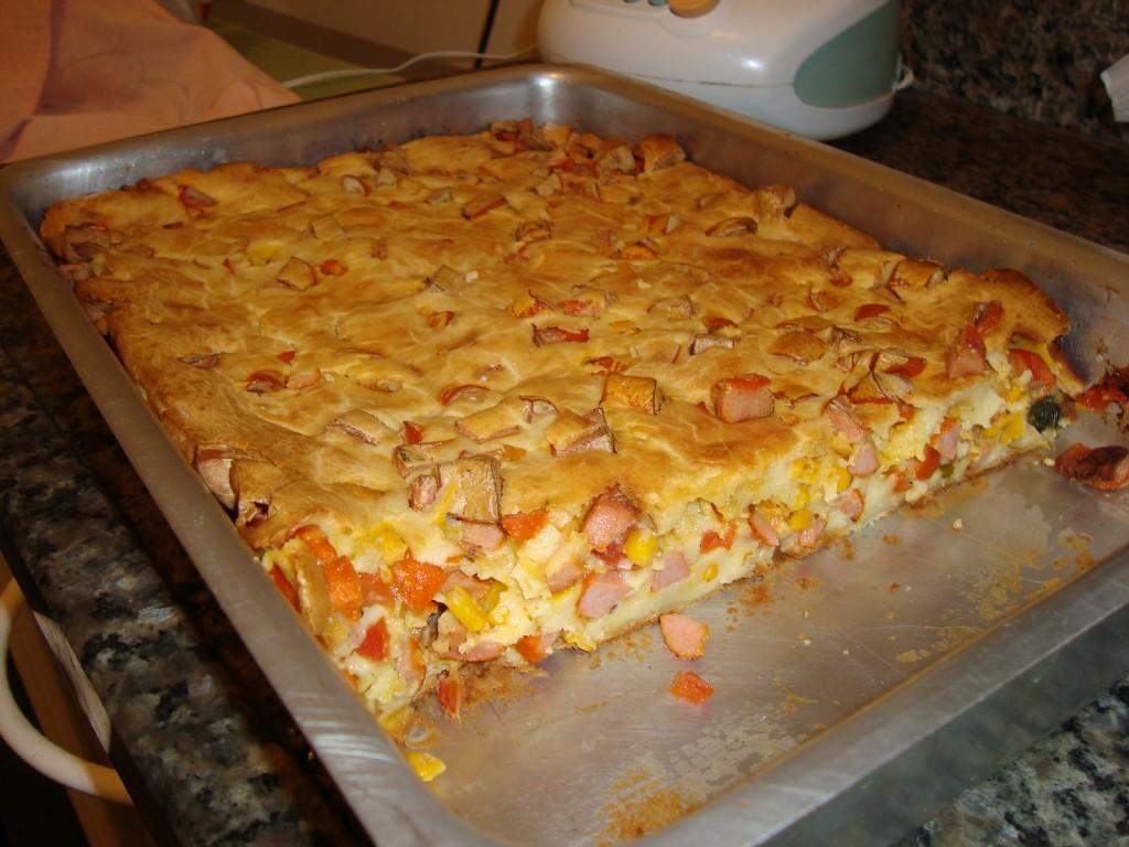 Torta de salsicha simples