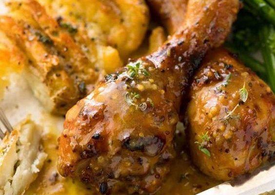Coxas de frango na mostarda excepcional
