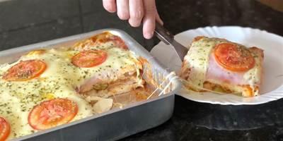 Lanchão de forno super prático e delicioso