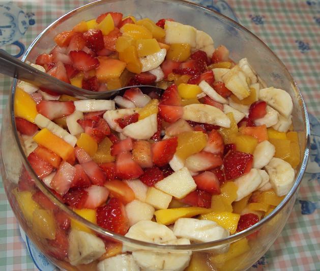 Salada de frutas natalina especial