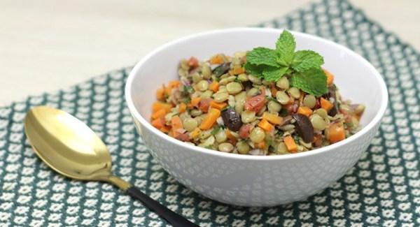 Salada de lentilha caseiro