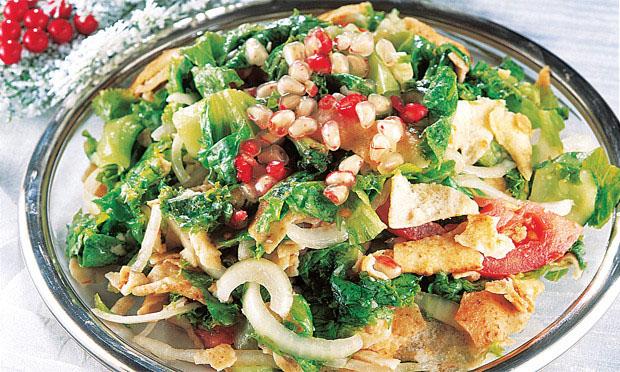 Salada de romã para o natal