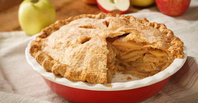 A verdadeira torta de maçã americana
