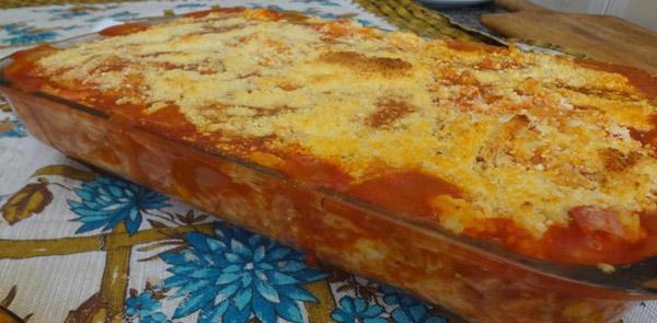 Arroz de forno gratinado fácil e delicioso