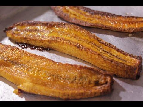 Banana da terra assada perfeita