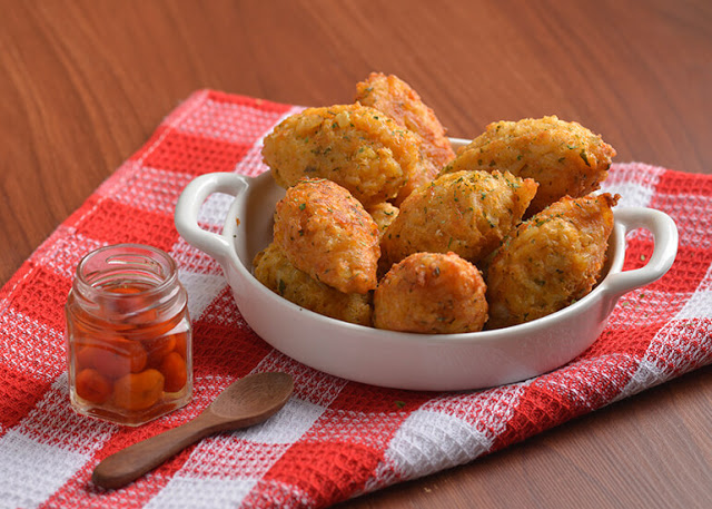 Bolinho de arroz na air fryer