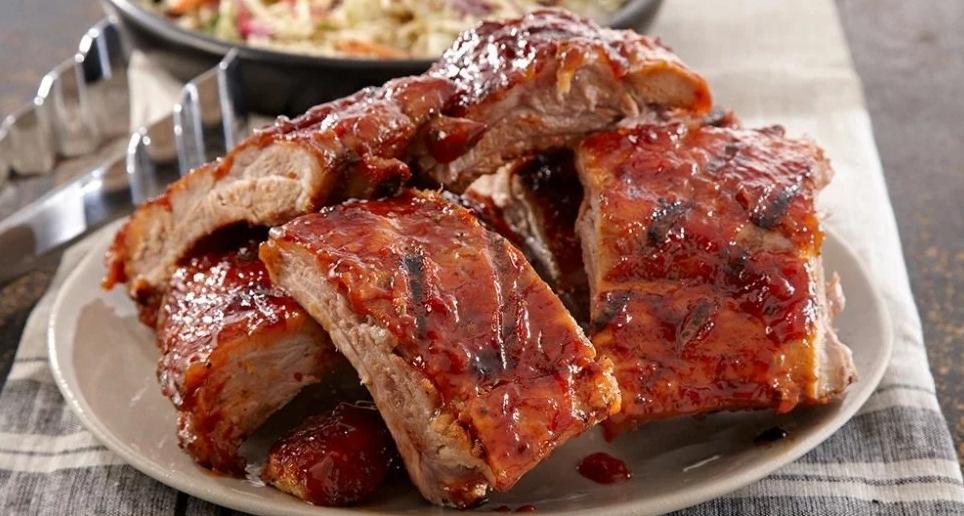 Costelinha de porco americana simples e deliciosa
