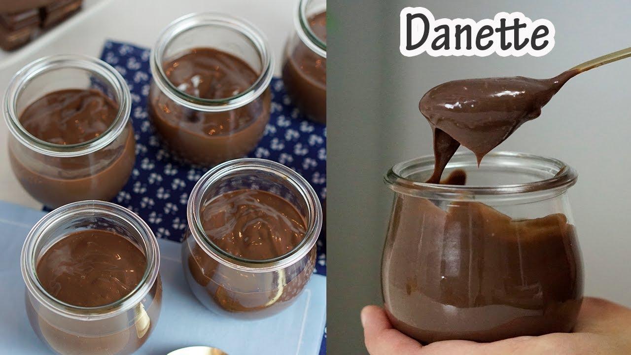Danette de chocolate caseiro ou creme danete