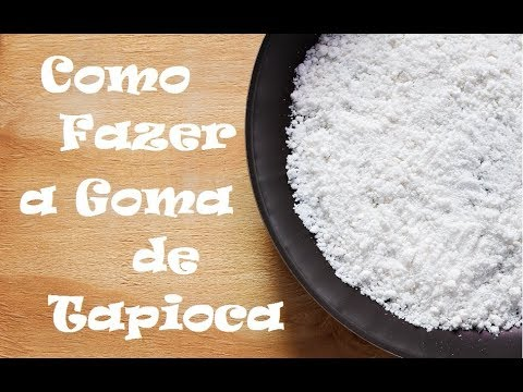 Goma de tapioca de mandioca caseira com 2 ingredientes