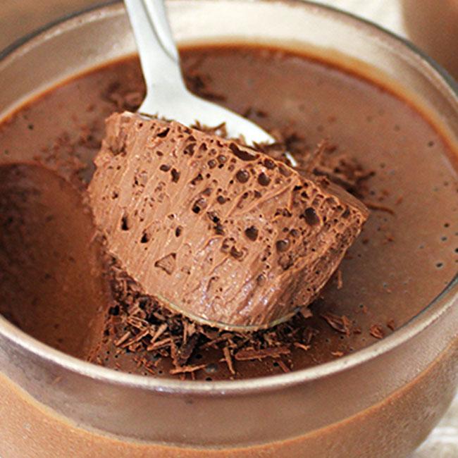 Mousse de chocolate 4 ingredientes fácil