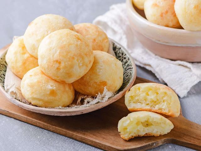 Pão de queijo de tapioca na air fryer