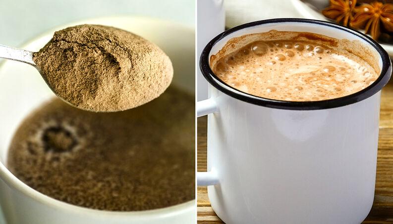 Receita de  pó de cappuccino caseiro