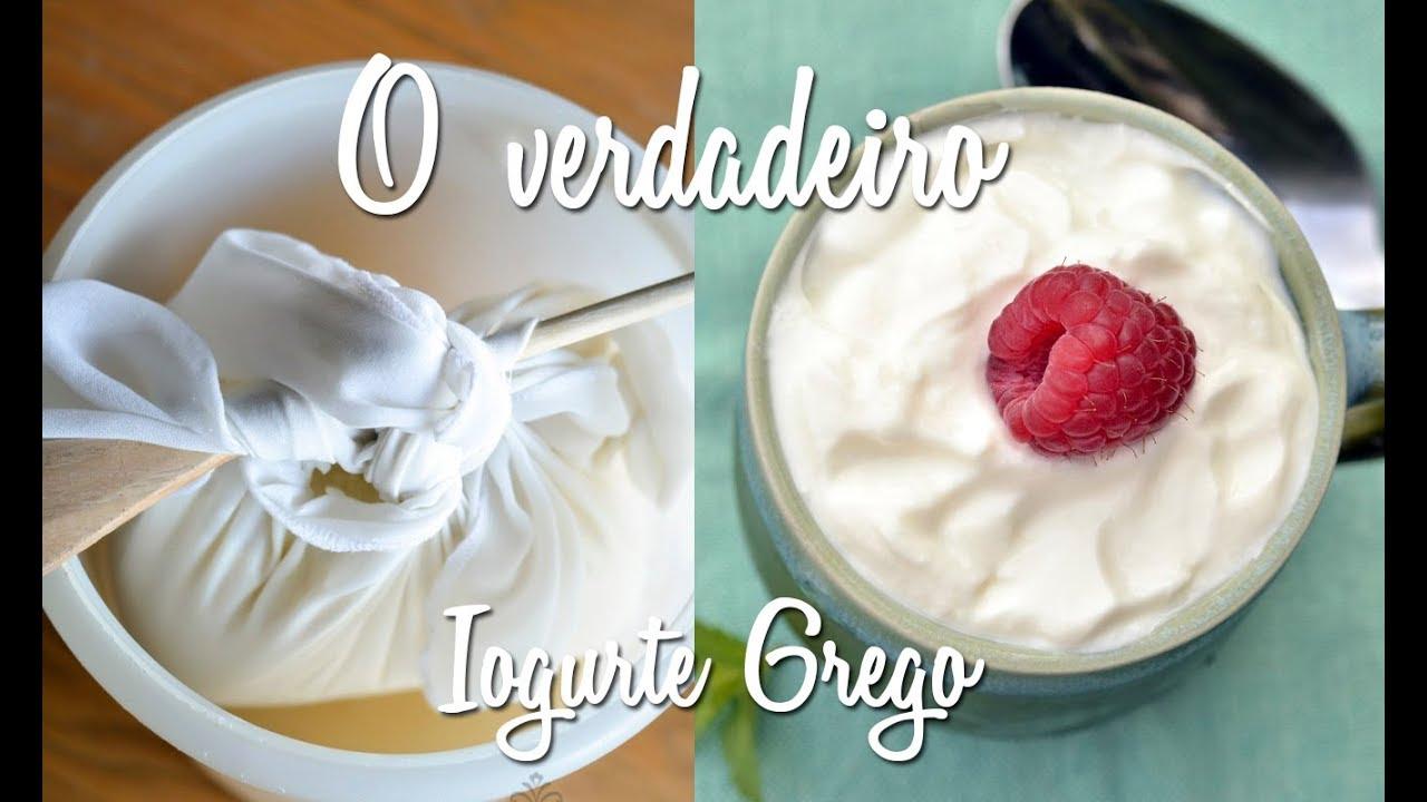 Receita de iogurte grego caseiro