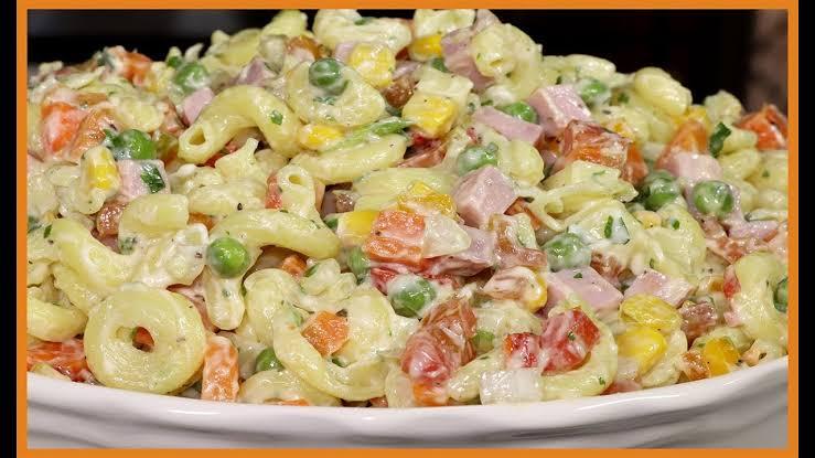 Salada de macarrão cremoso a melhor receita que já fiz