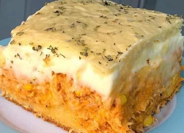 Torta de frango de liquidificador muito fácil e saborosa