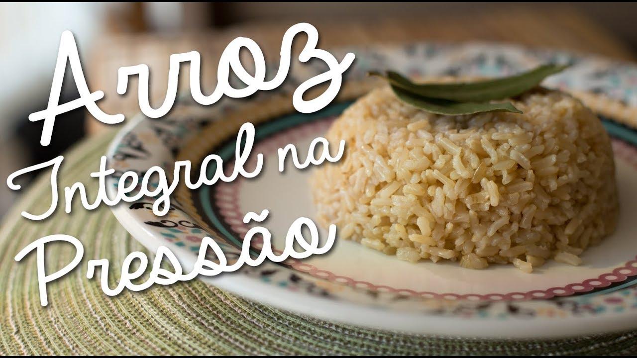 Como cozinhar arroz integral em 10 minutos contados