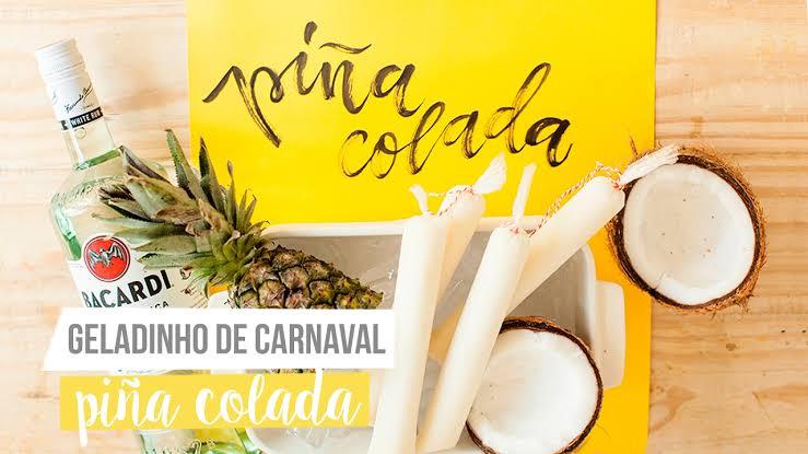 Geladinho de pinã colada para animar seu carnaval