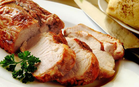 Lombo de porco na mostarda suculento uma delícia