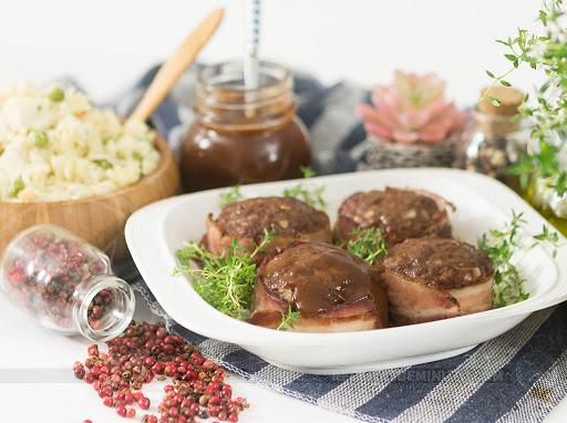 Medalhão de carne moída com barbecue fácil e muito delicioso
