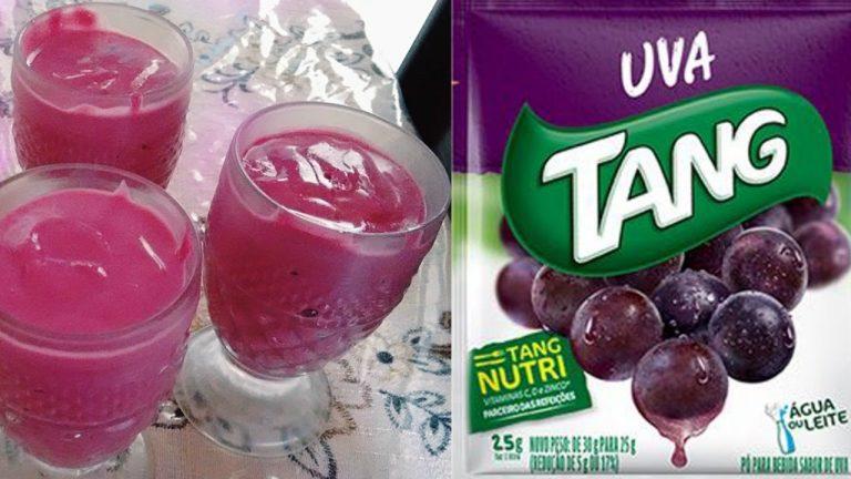 Mousse de uva com suco tang e gelatina fácil e deliciosooo