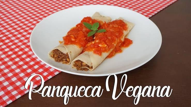 Panqueca salgada vegetariana deliciosa