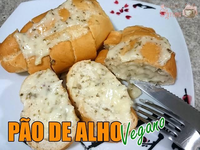 Pão de alho vegano delicioso