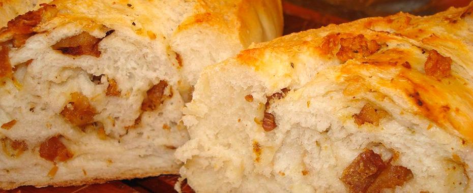 Pão de torresmo caseiro fácil