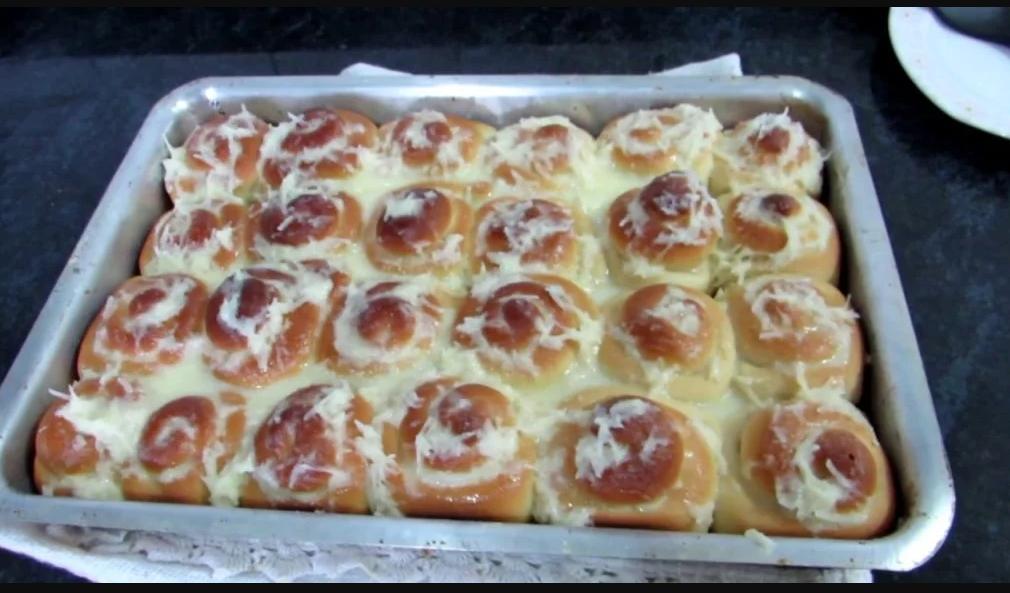 Pão doce com creme receita fácil e maravilhosa