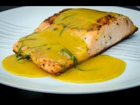 Salmão grelhado com mostarda e mel