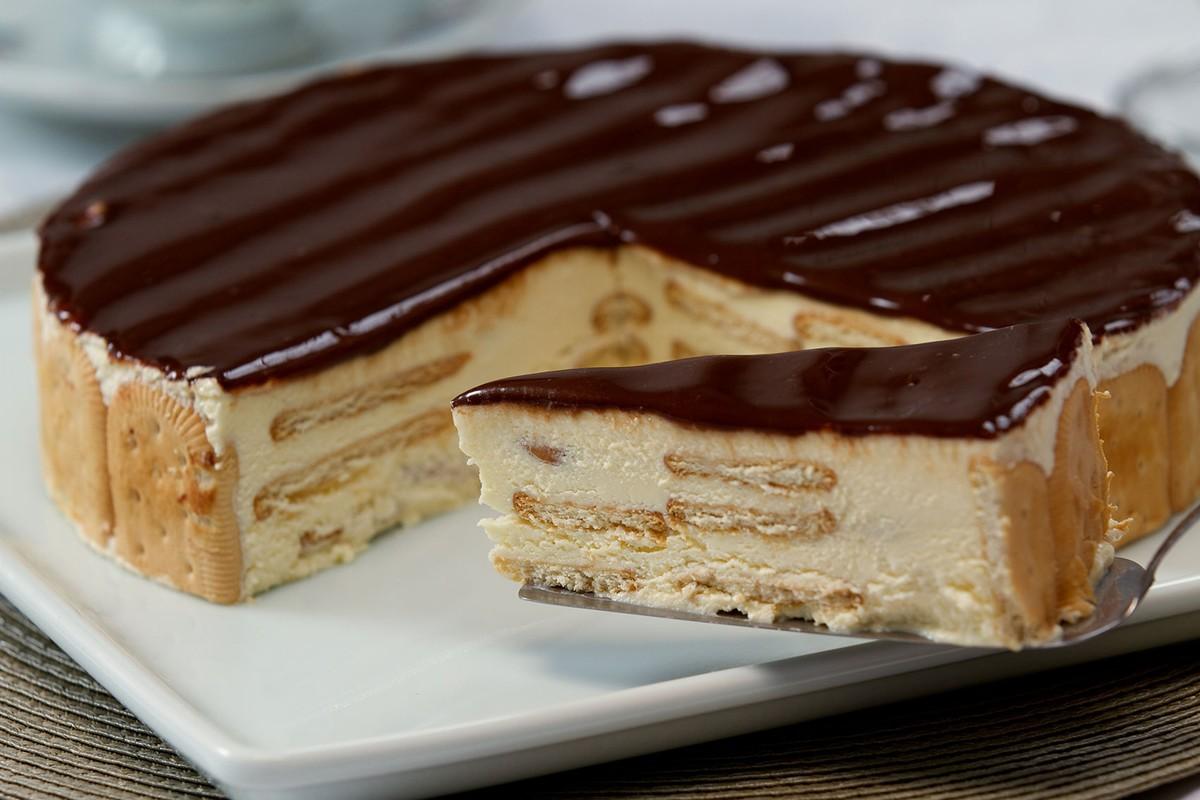 Torta alemã de padaria sem ovo crocante