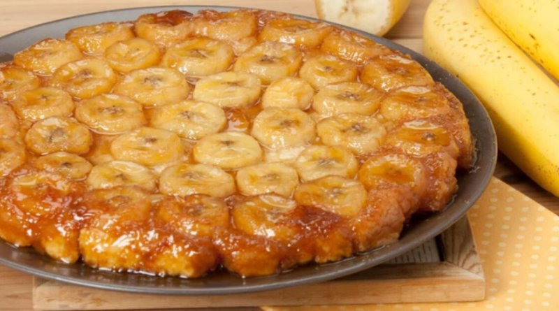 Torta de banana impossível resistir a essa delícia