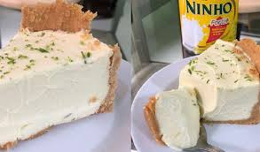 Torta de limão com leite ninho