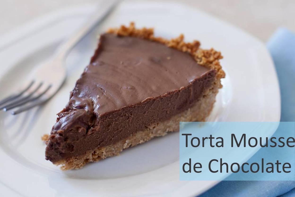 Torta mousse de chocolate fácil e delicioso