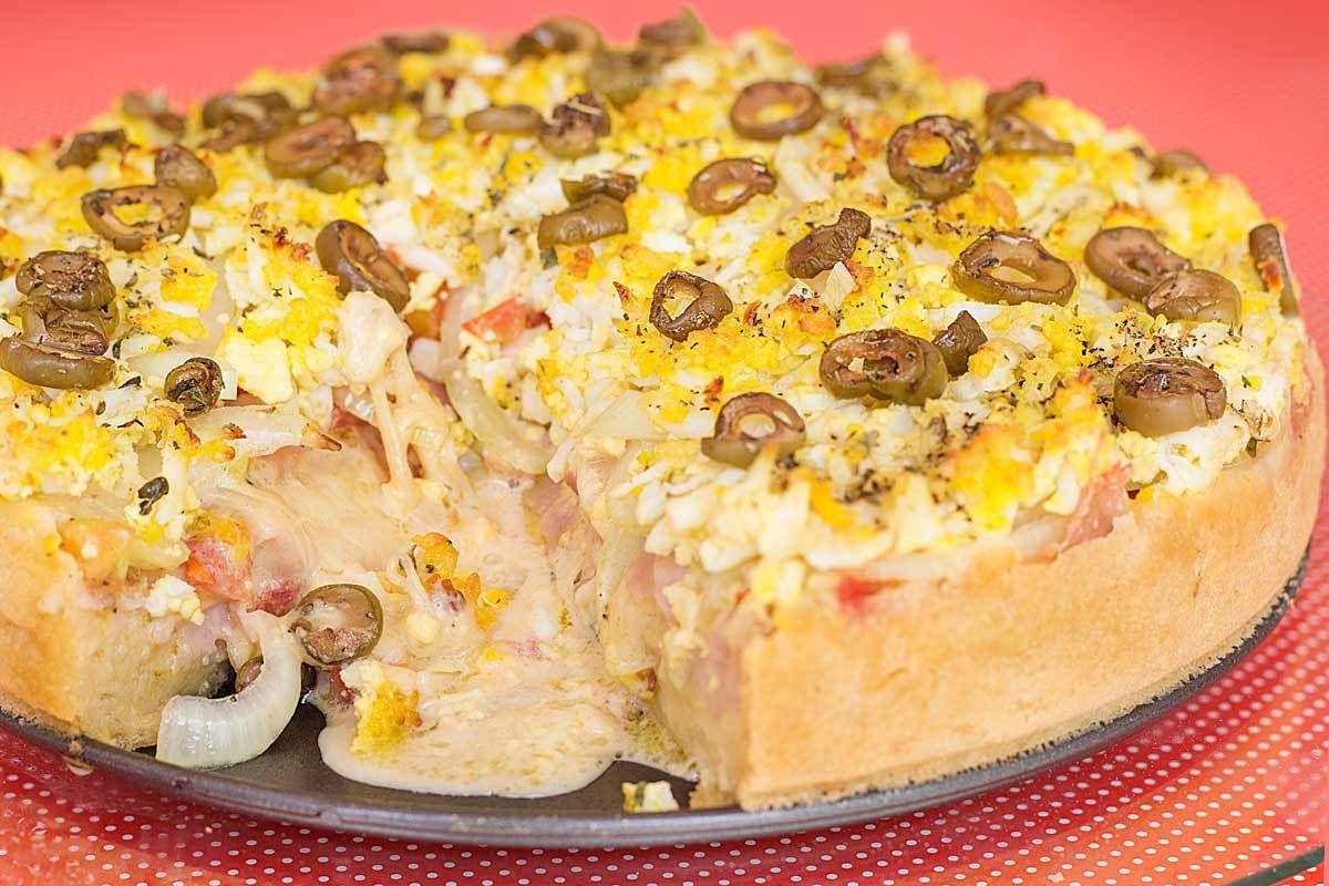 Torta pizza portuguesa fácil muito deliciosa