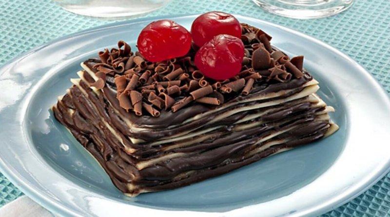 Lasanha de chocolate caseira deliciosa