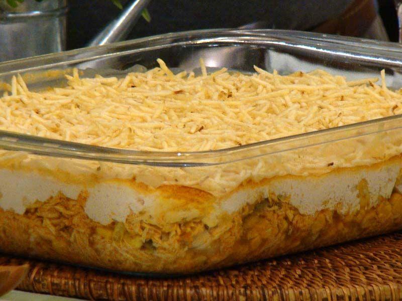 Receita de fricassê de frango com purê de batatas