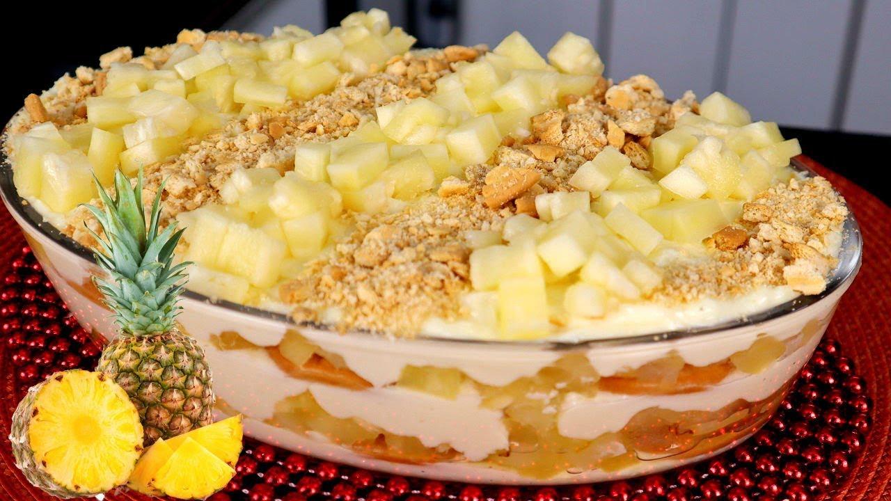 Receita de geladão de abacaxi delicioso