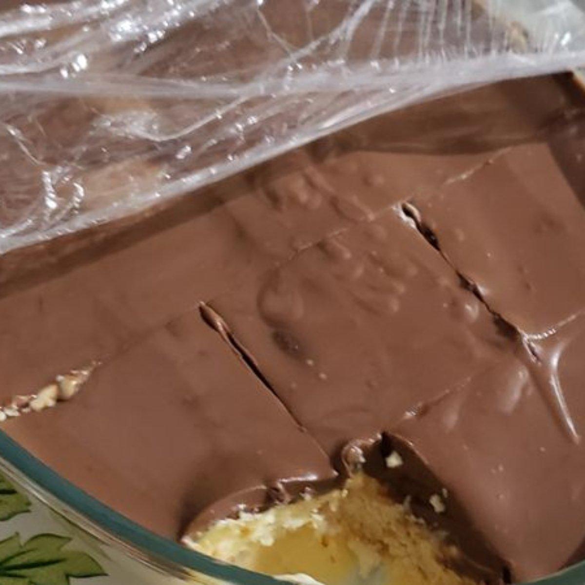 Receita de pavê com mousse de chocolate caseiro fabuloso
