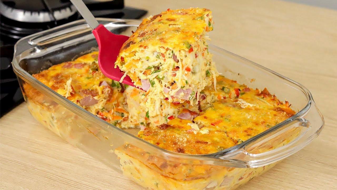 Receita da melhor omelete de forno que você vai fazer na vida