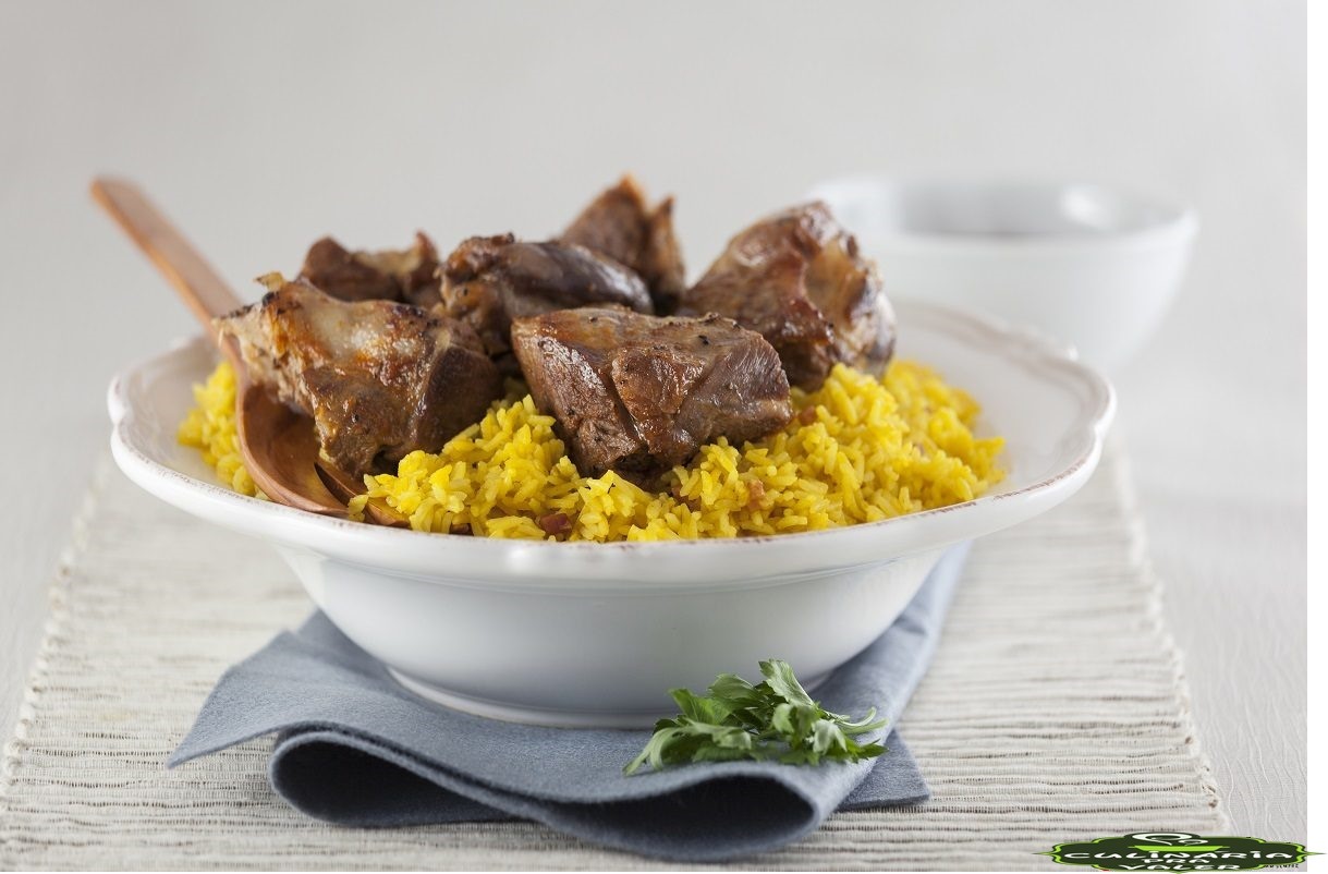Receita de arroz com cabrito