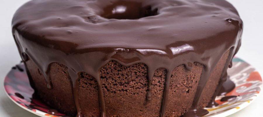 Receita de bolo de café e chocolate caseiro delicioso