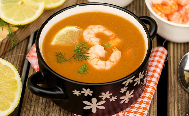 Receita de caldo de camarão simples