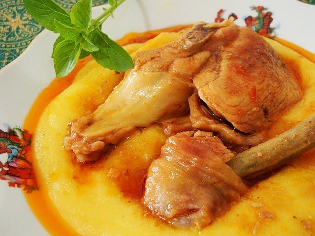 Receita de frango caipira com creme de milho