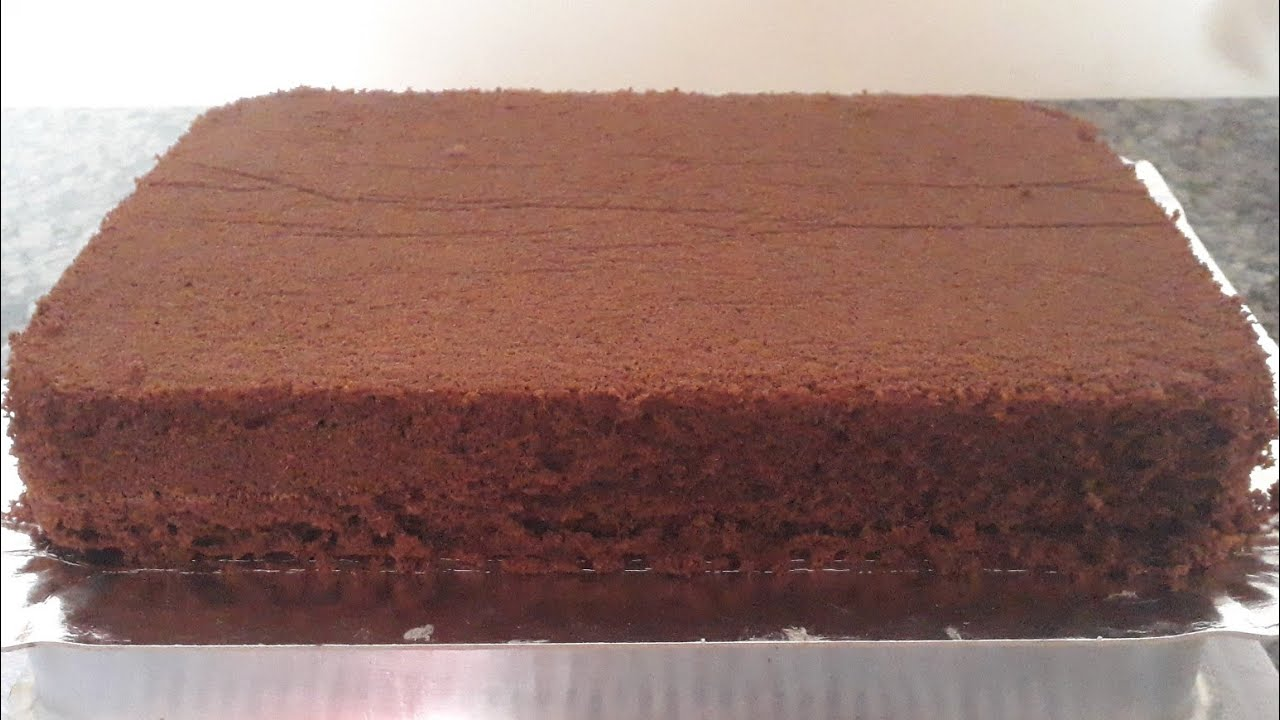 Receita de massa de bolo de chocolate de aniversario no liquidificador
