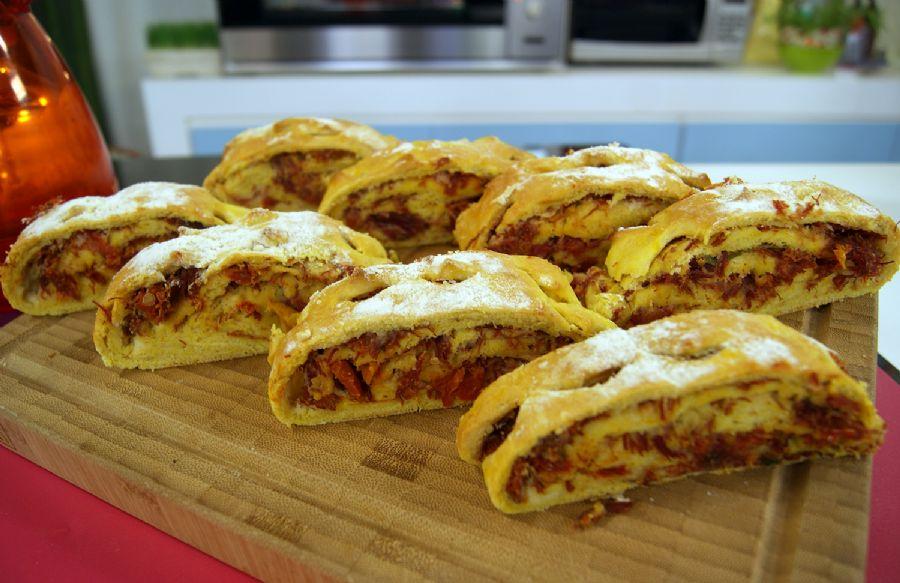 Receita de pão de abóbora com carne seca caseiro maravilhoso