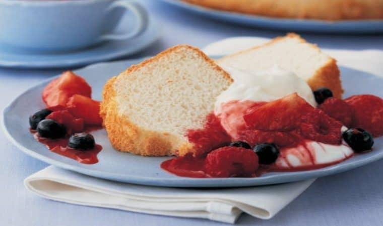 Receita de pão de ló de baunilha quase sem gordura para comer sem culpa
