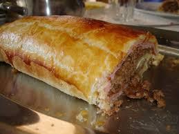 Receita de rolo de carne com massa folhada delicioso