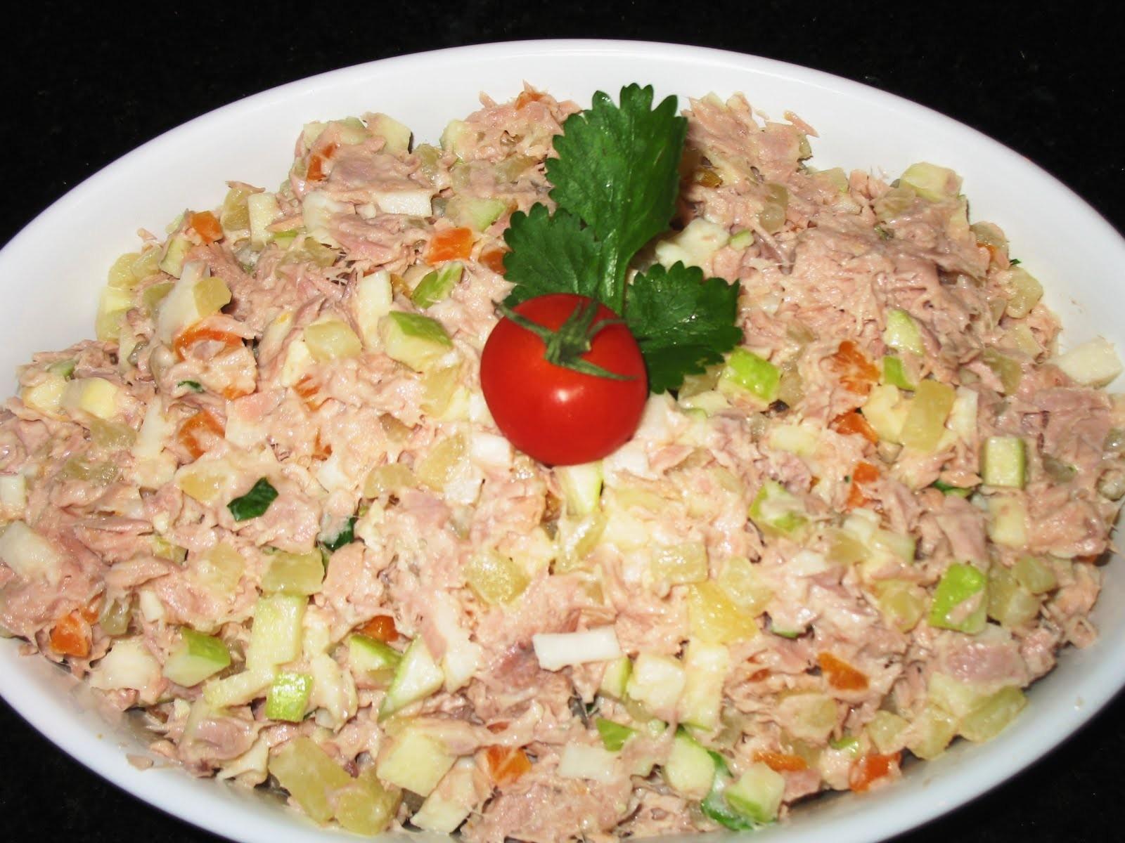 Receita de salpicão com atum fácil e delicioso