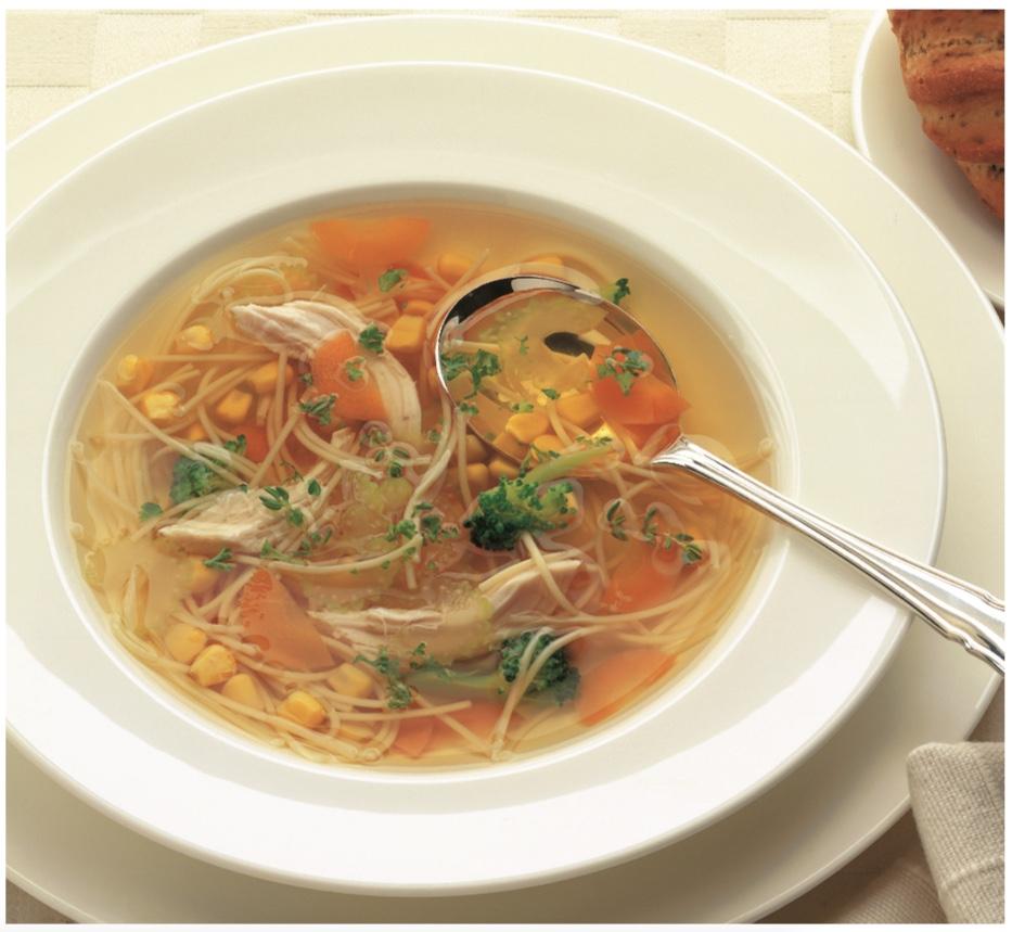 Receita de sopa de galinha e macarrão